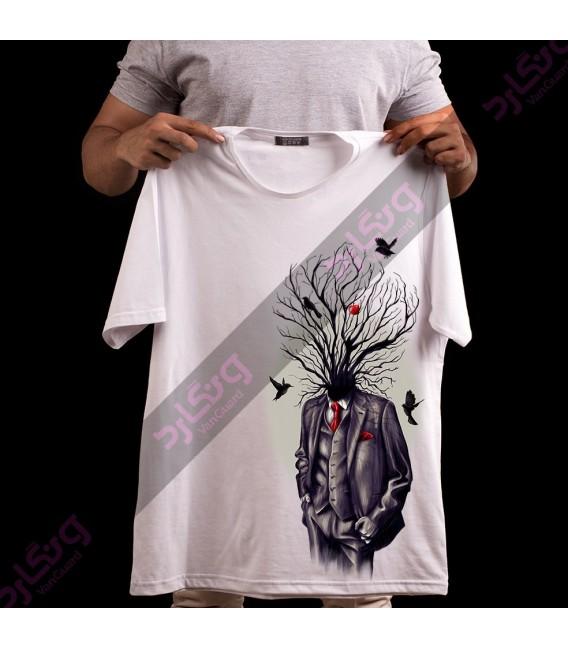 تی شرت مرد ریشه دار / TA167