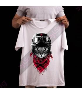 تی شرت گربه موتور سوار / TA165