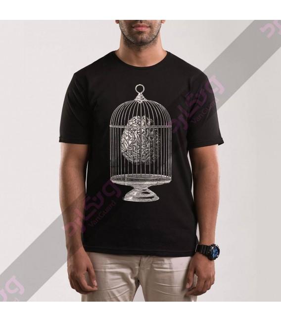 تی شرت مغزی در قفس / TA163