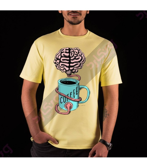 تی شرت انرژی دادن به مغز با قهوه / TF101