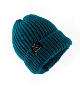 کلاه بافت سبزآبی