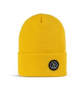 کلاه بافت زرد